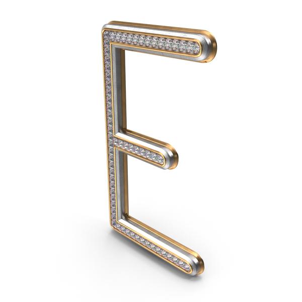 Bling Diamonds Letter E PNG & PSD Images