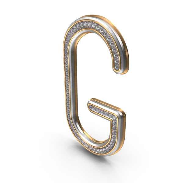 Bling Diamonds Letter G PNG & PSD Images