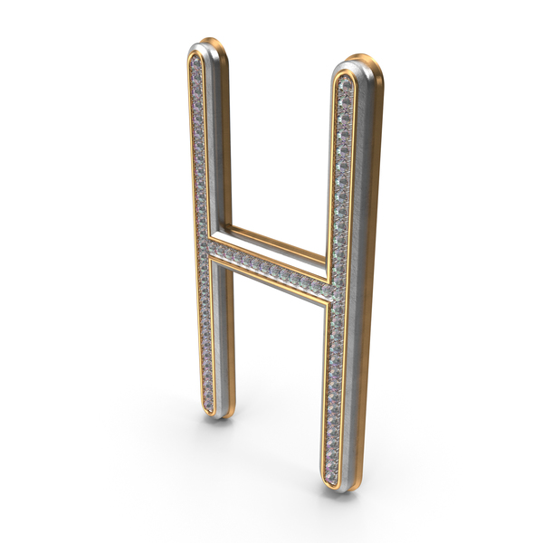 Bling Diamonds Letter H PNG & PSD Images