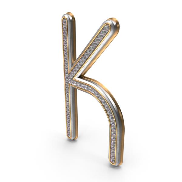 Bling Diamonds Letter K PNG & PSD Images