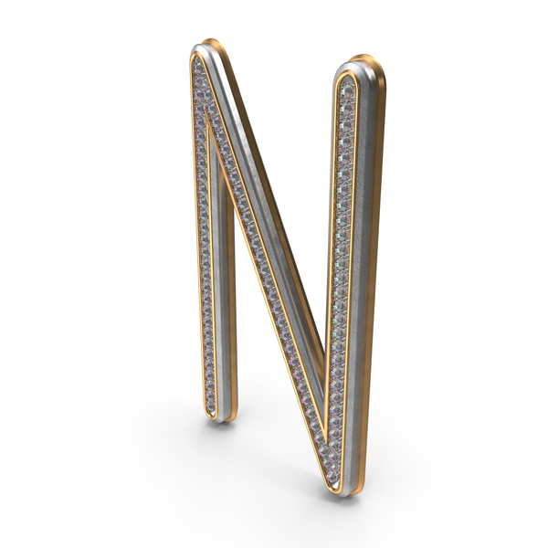 Bling Diamonds Letter N PNG & PSD Images
