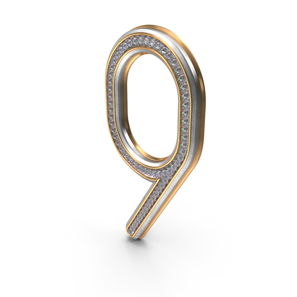 Bling Diamonds Number 9 PNG & PSD Images