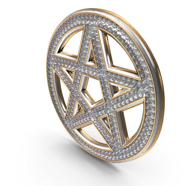 Bling Diamonds Pentagram PNG & PSD Images
