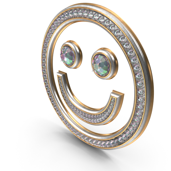 Bling Diamonds Smiley Emoji PNG & PSD Images
