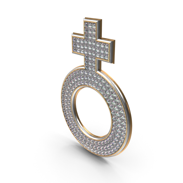Bling Diamonds Symbol Female PNG & PSD Images
