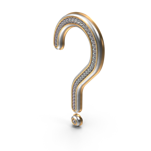 Bling Diamonds Symbol Question Mark PNG & PSD Images