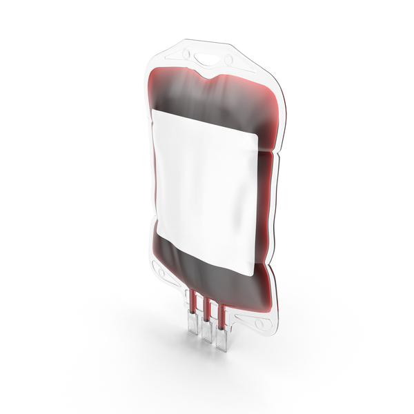 Blood Bag Blank Label PNG & PSD Images