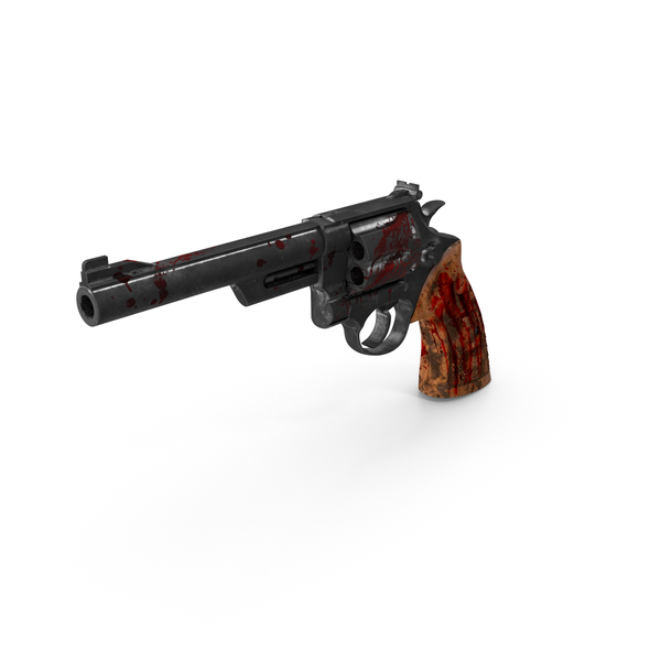 Bloody Revolver PNG & PSD Images