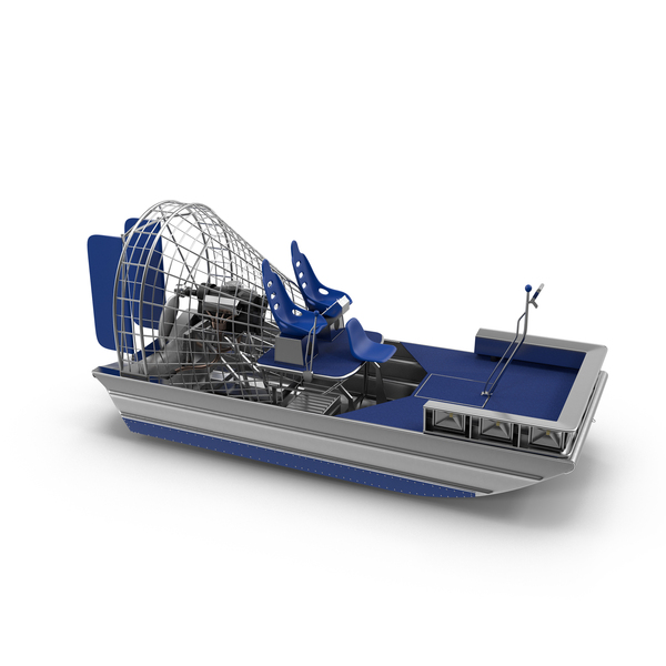 Blue Airboat Object