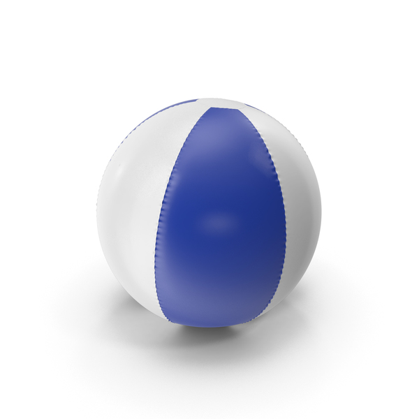 Toy: Blue and White Inflatable Beach Ball PNG & PSD Images