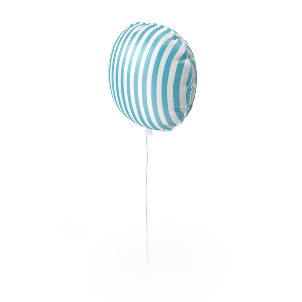 Blue and White Stripes Balloon PNG & PSD Images