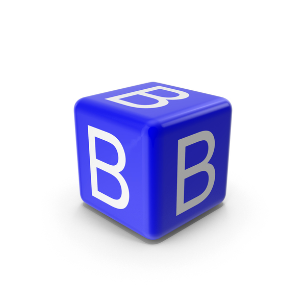 Blue B Block PNG & PSD Images