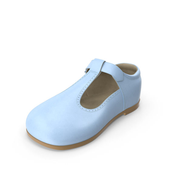 Blue Baby Shoe PNG & PSD Images