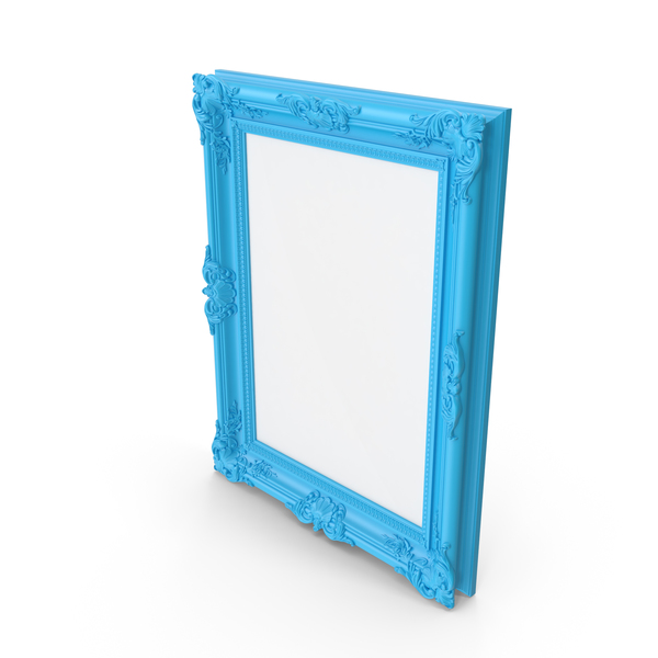 Blue Baroque Picture Frame PNG & PSD Images