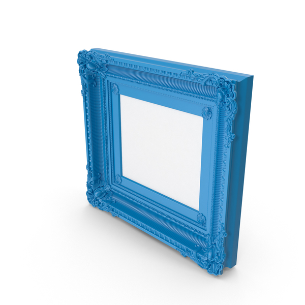 Frame: Blue  Baroque Picture PNG & PSD Images