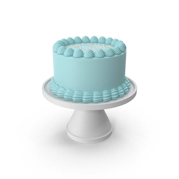 Blue Birthday Cake PNG & PSD Images