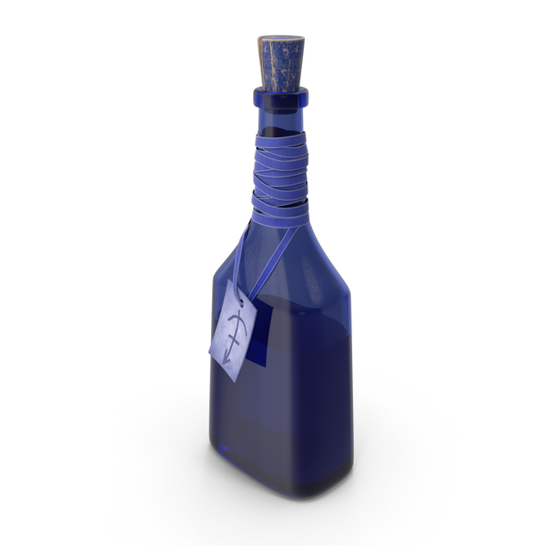 Blue Bottle with Potion PNG & PSD Images