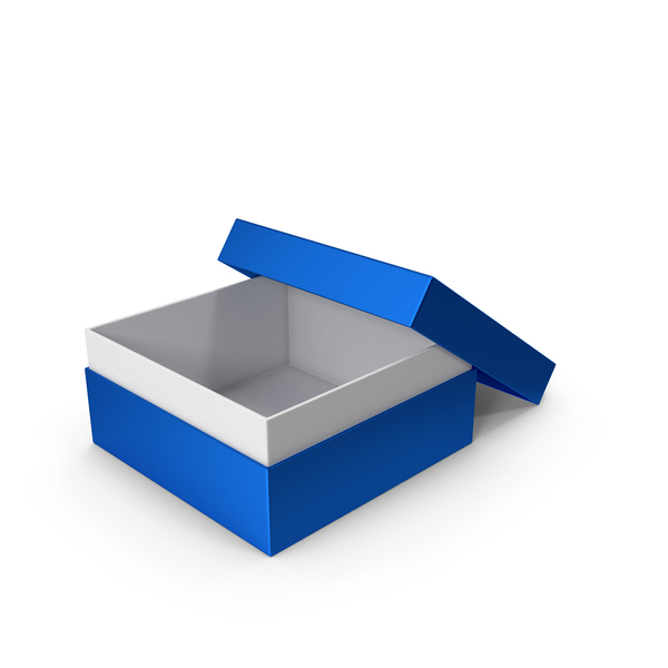 Cardboard: Blue Box Opened PNG & PSD Images