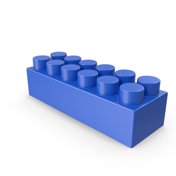 Blue Building Block PNG & PSD Images