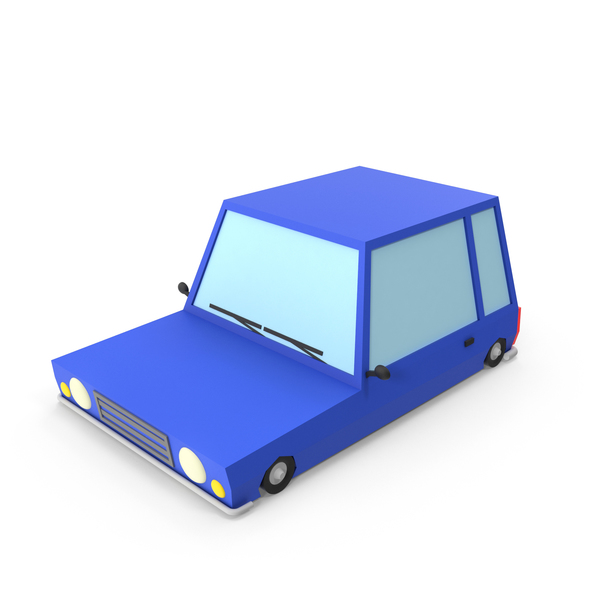 Blue Cartoon Car PNG & PSD Images