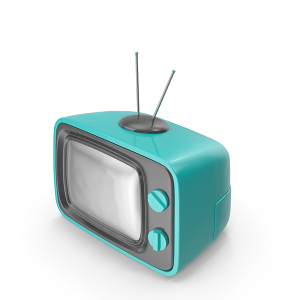 Crt: Blue Cartoon Television PNG & PSD Images