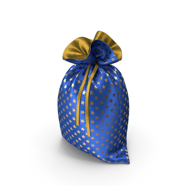 Blue Christmas Bag with Gifts PNG & PSD Images