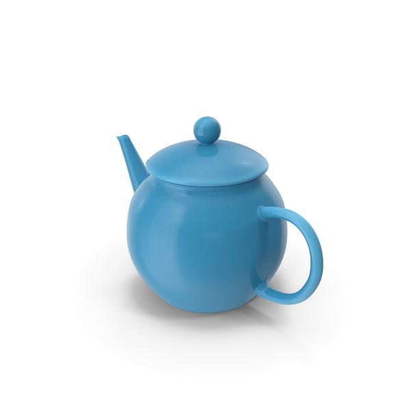 Blue Classic Ceramic Teapot PNG & PSD Images