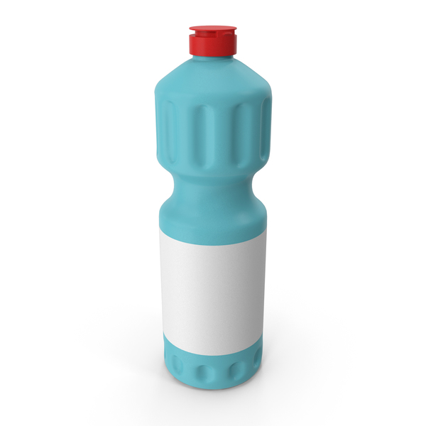 Blue Cleaning Product Bottle with Red Cap 5 PNG & PSD Images