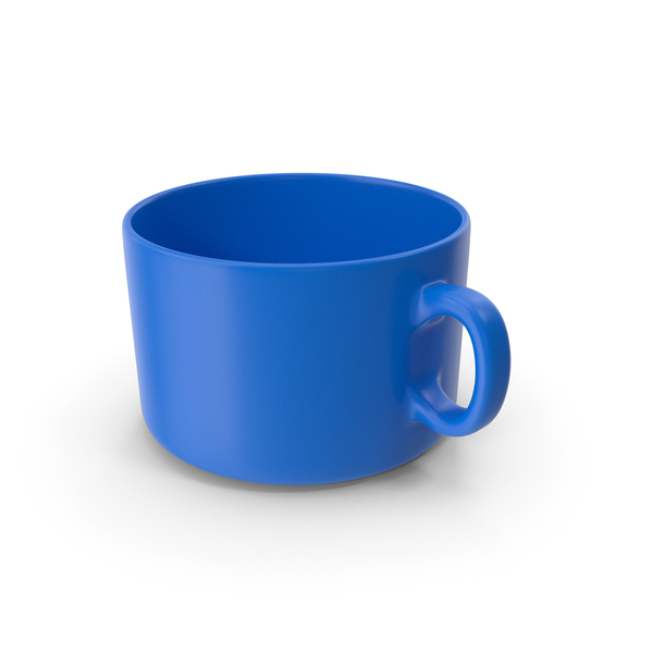 Zarf: Blue Coffee Cup Empty PNG & PSD Images