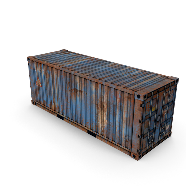 Blue Container PNG & PSD Images