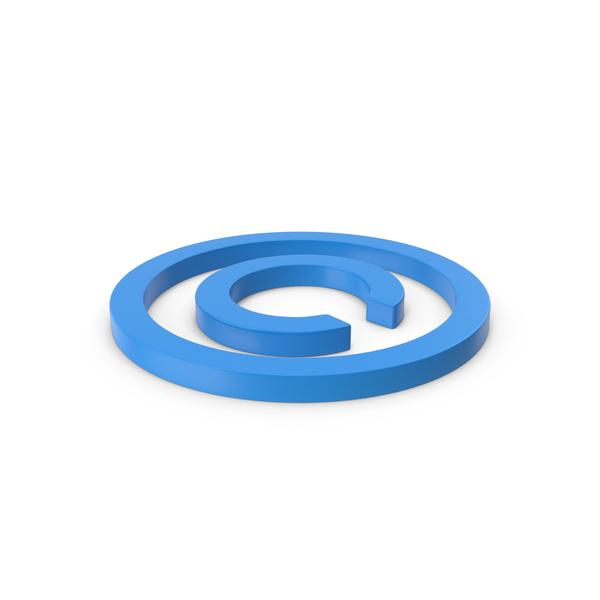 Symbols: Blue Copyright Symbol PNG & PSD Images