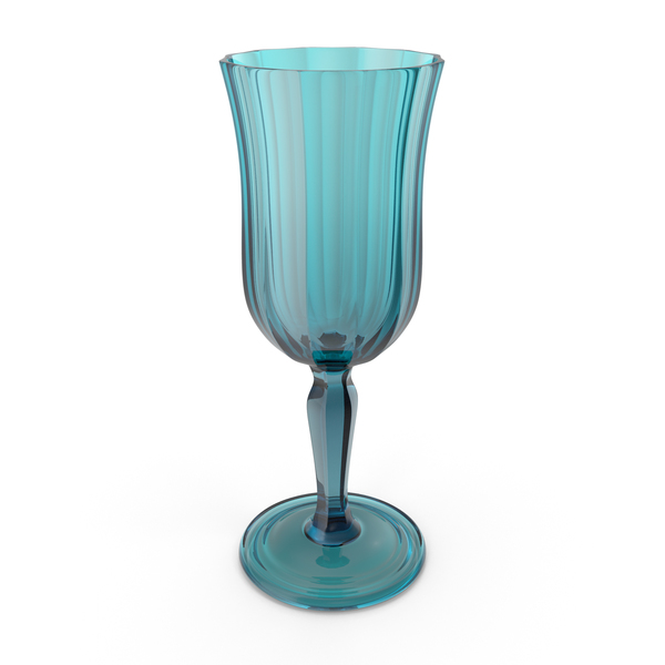 Wine: Blue Crystal Glass PNG & PSD Images