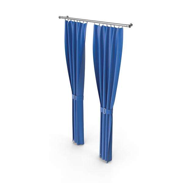 Blue Curtain Object