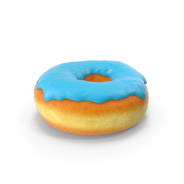 Blue Donut PNG & PSD Images