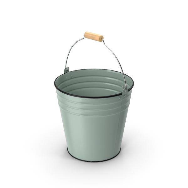 Blue Enamel Bucket 5L PNG & PSD Images