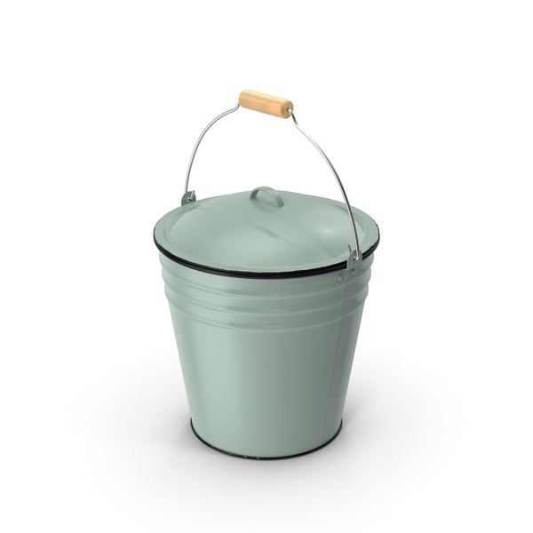 Blue Enamel Bucket with Lid 5L PNG & PSD Images