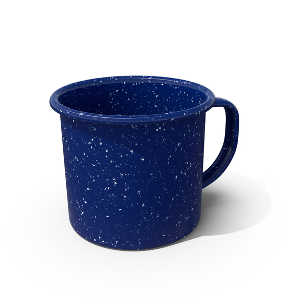 Blue Enamel Mug Object