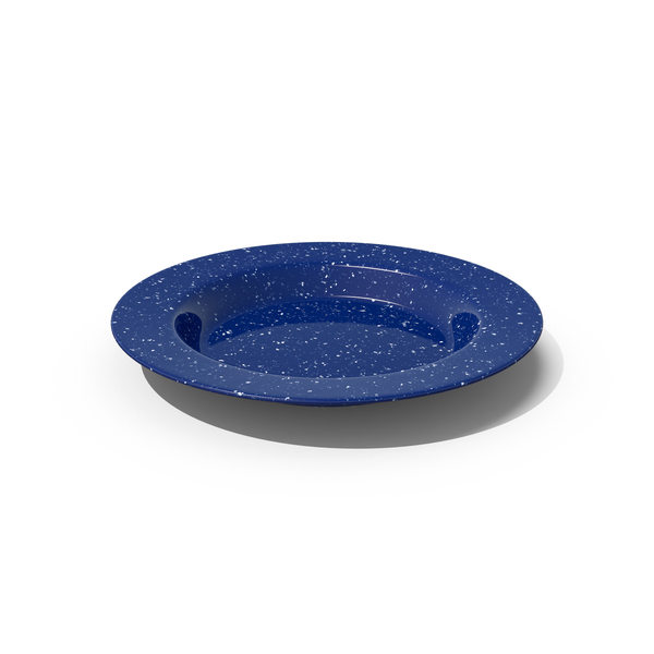 Blue Enamel Plate PNG & PSD Images