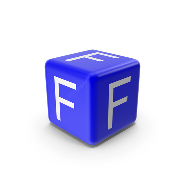 Alphabet Blocks: Blue F Block PNG & PSD Images