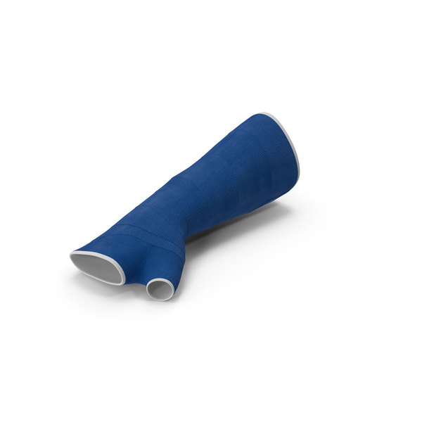 Blue Fiberglass Arm Cast PNG & PSD Images