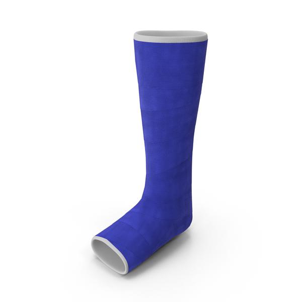 Blue Fiberglass Leg Cast PNG & PSD Images