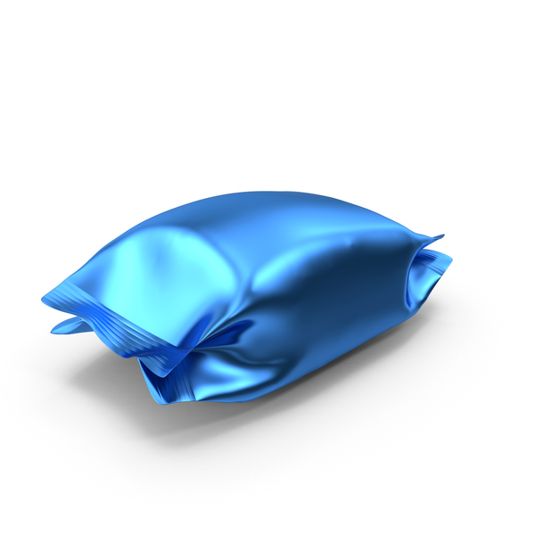 Blue Foil Snack Package PNG & PSD Images