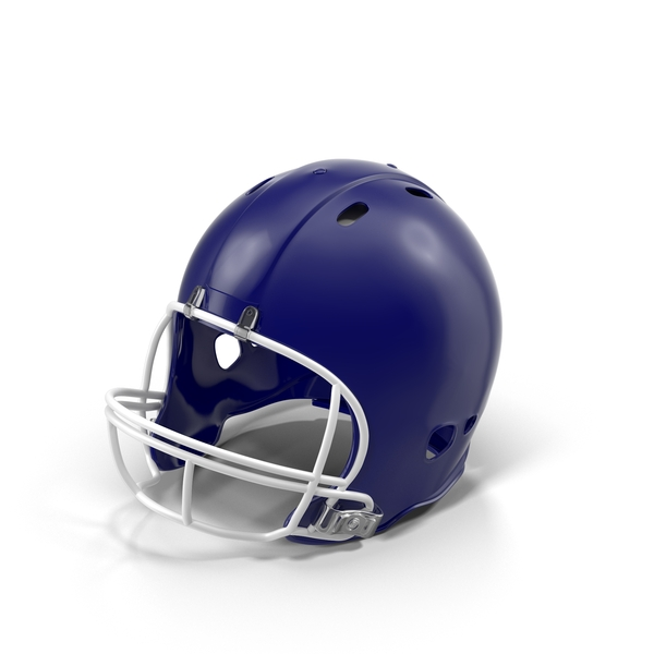 Blue Football Helmet Object