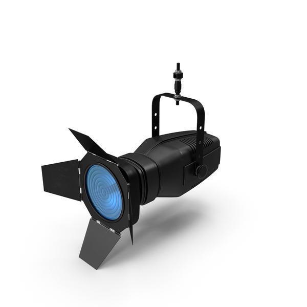Stage Light: Blue Fresnel Lantern Object