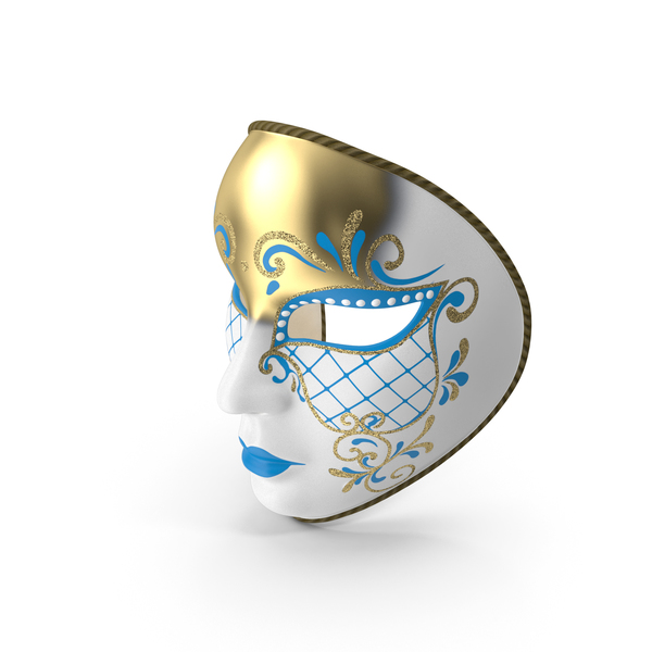 Blue Full Face Carnival Mask PNG & PSD Images