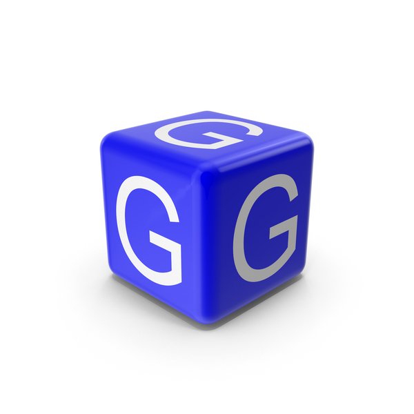 Alphabet Blocks: Blue G Block PNG & PSD Images