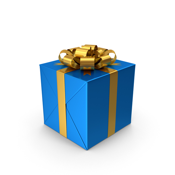 Blue Gift Box PNG & PSD Images