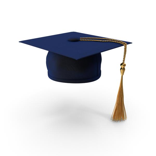 Cap: Blue Graduation Hat PNG & PSD Images