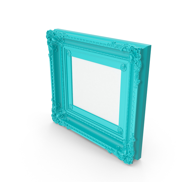 Blue Green Baroque Picture Frame PNG & PSD Images