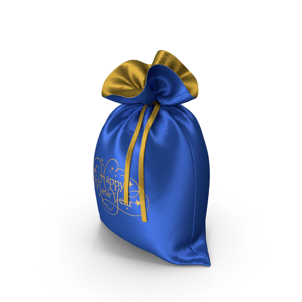 Blue Happy New Year Bag with Gifts PNG & PSD Images